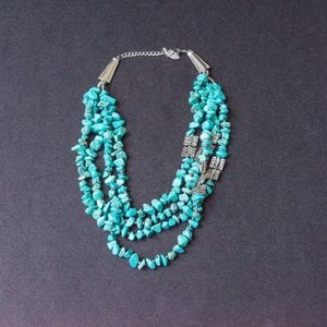 Necklace Turquoise silver. Southwest   Vintage